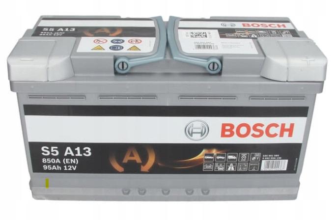 аккумулятор bosch agm s5a13 12v 95ah 850a p+