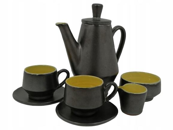 Serwis dla dwóch osób ceramika, mokka