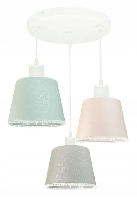 PLAFON SUFITOWY LAMPA DZIECIĘCA POMPONY KOLORY