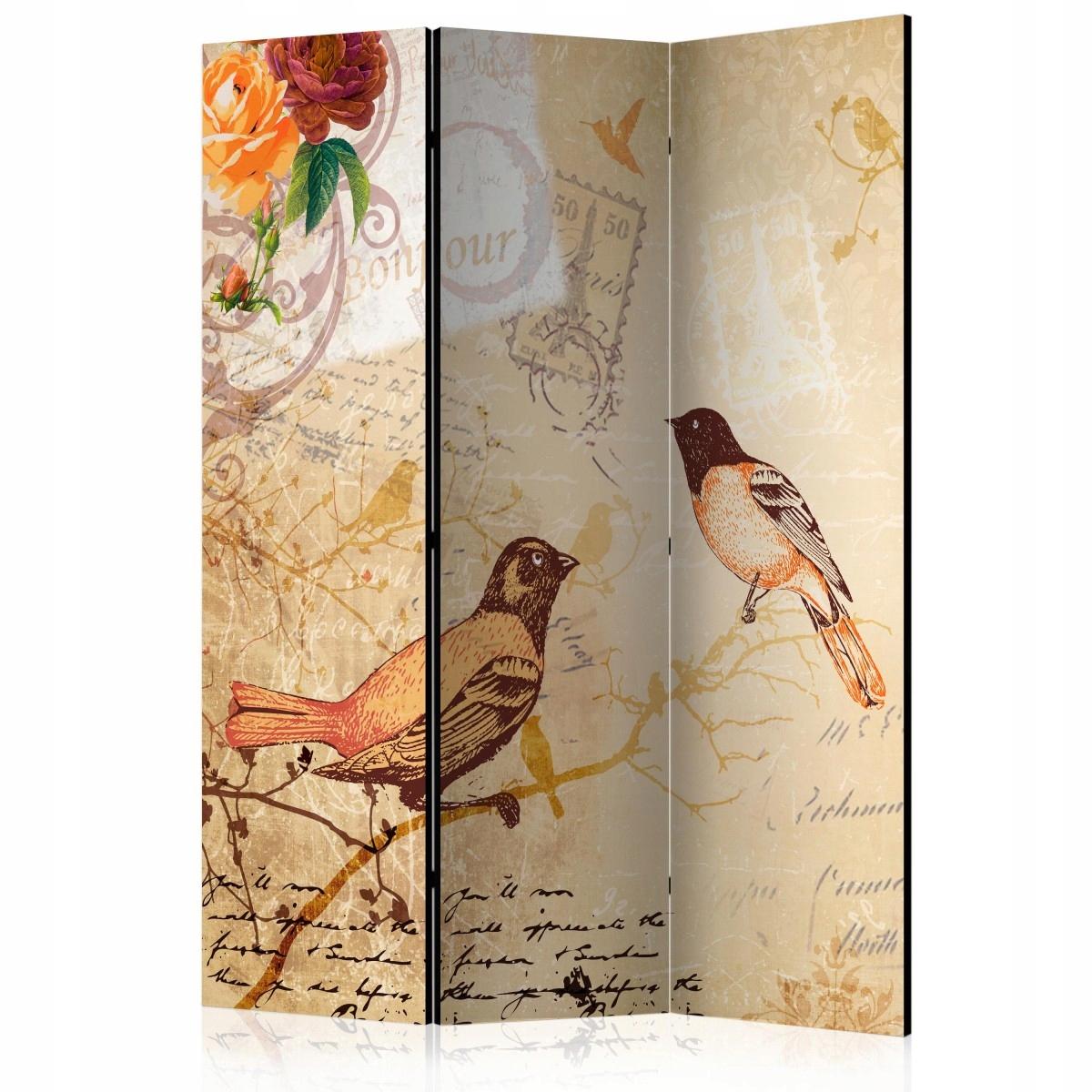 Displej dekoratívne 135x172 vtákov tému retro