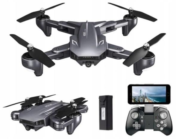 DRON DWIE KAMERY VISUO 4K WIFI HD XS816 ZAWIS RC