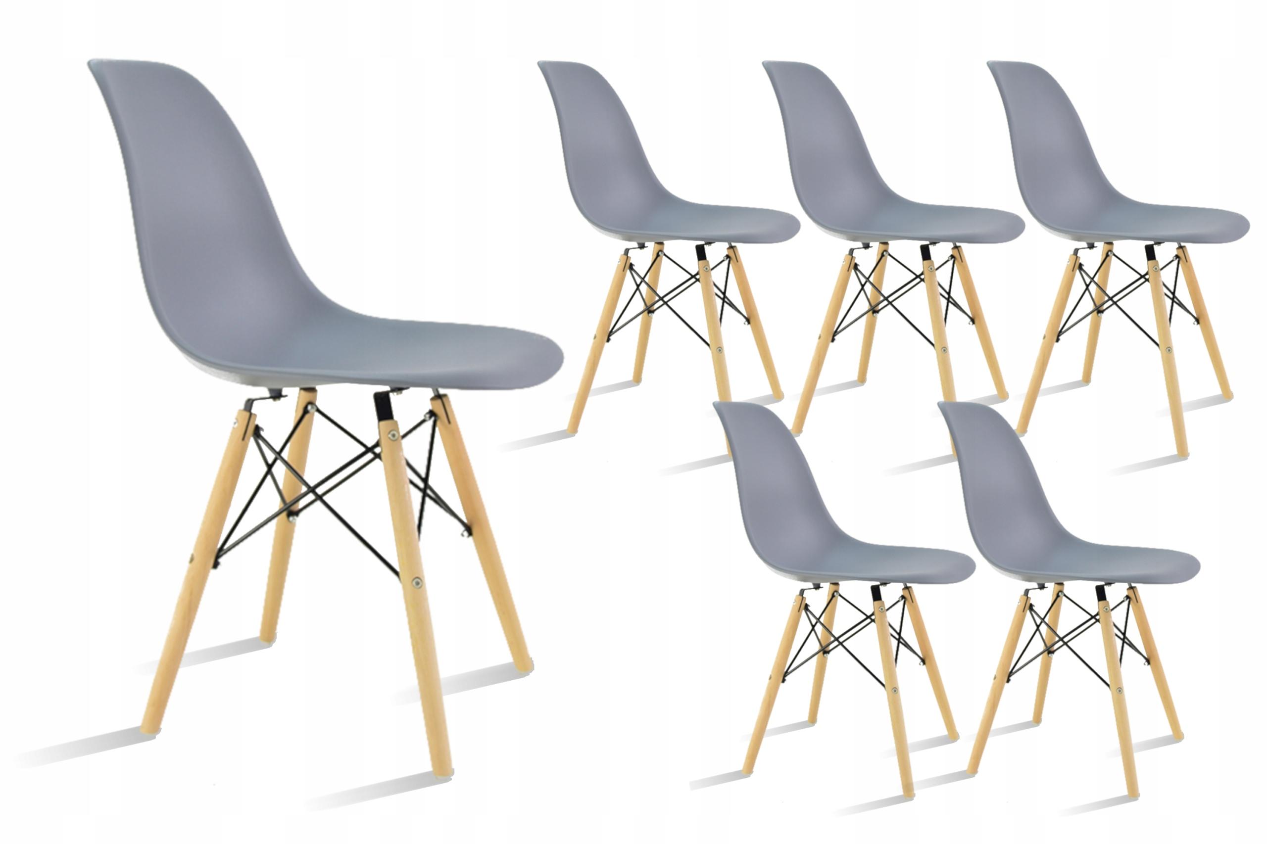 6 х серых скандинавских стульев-ковшей