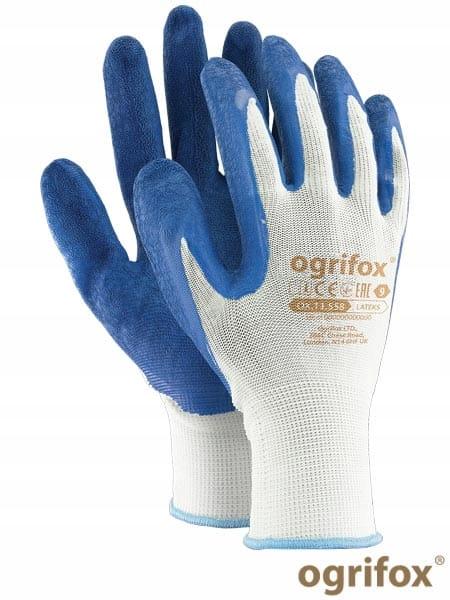 Rękawice ochronne robocze Ogrifox Ox Lateks WN10