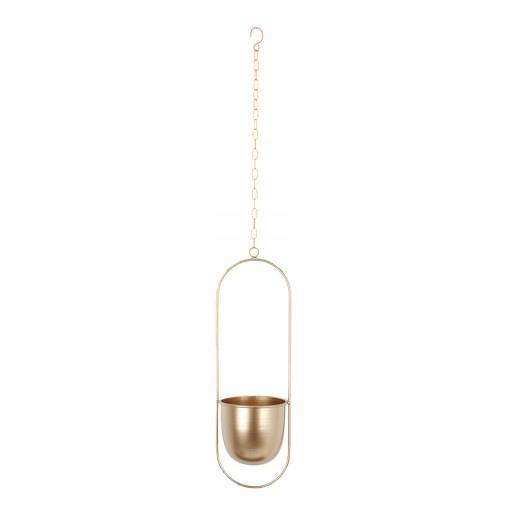 подвесная корзина для цветочных горшков - золотой овал