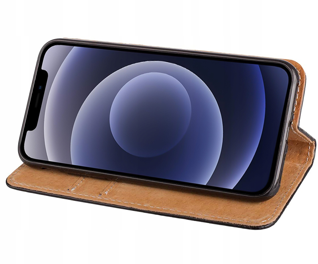 Etui do iPhone 12 Pro Skórzane Portfel + Szkło 9H Kod producenta 17355939