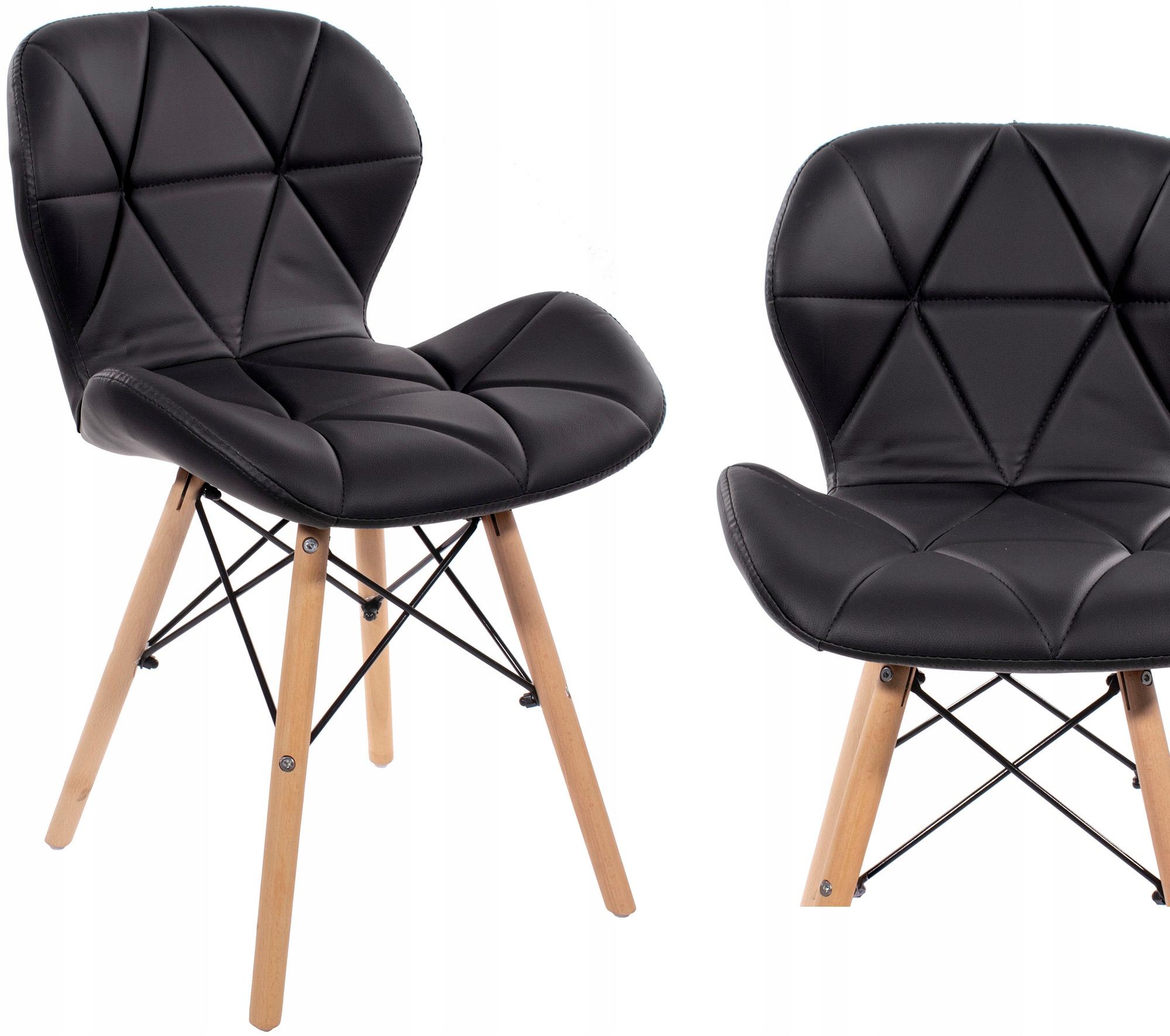 Скандинавское кресло из экокожи с обивкой