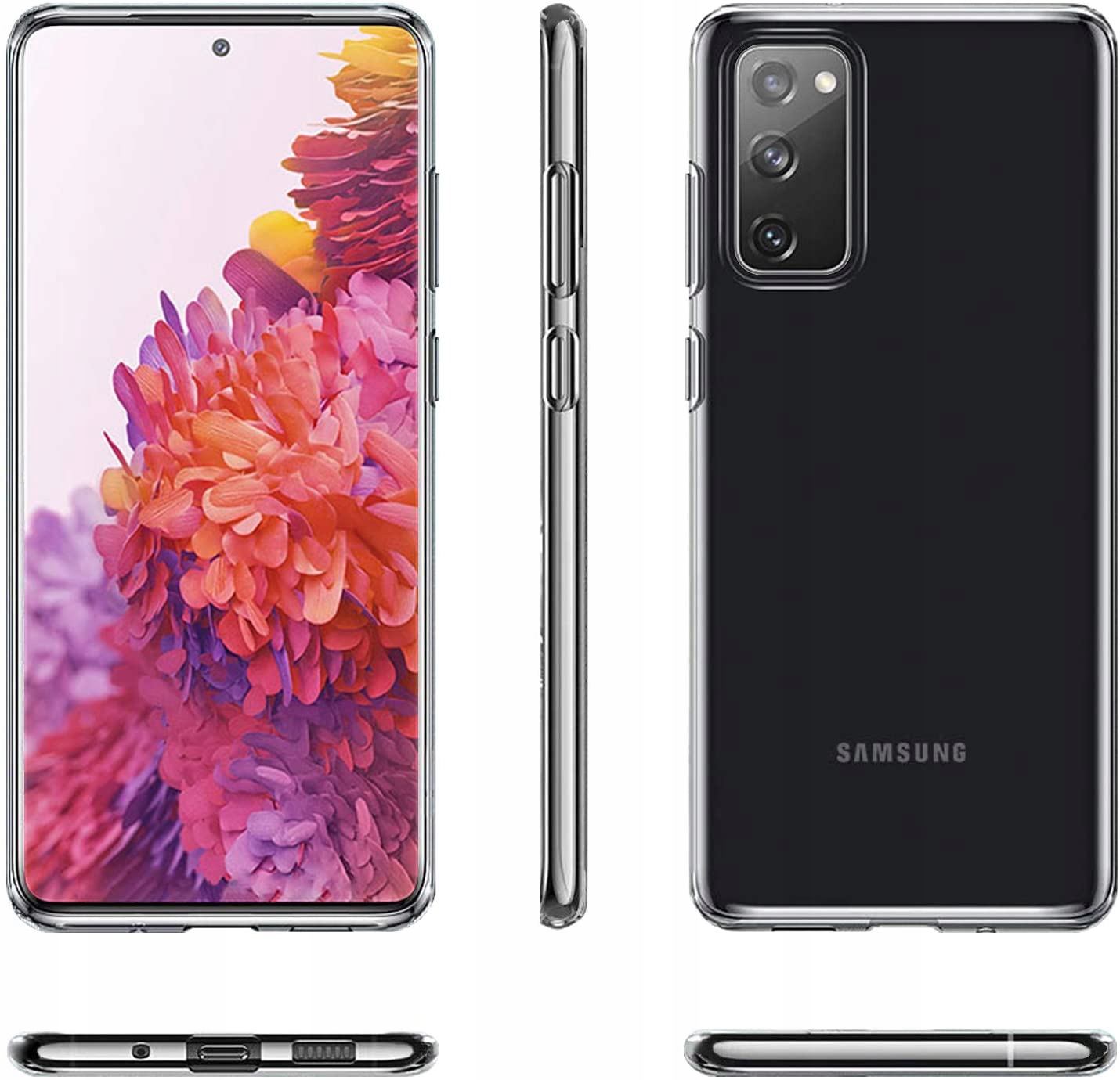 Etui do Samsung Galaxy S20 FE Clear Case + Szkło Dedykowany model Samsung Galaxy S20 FE