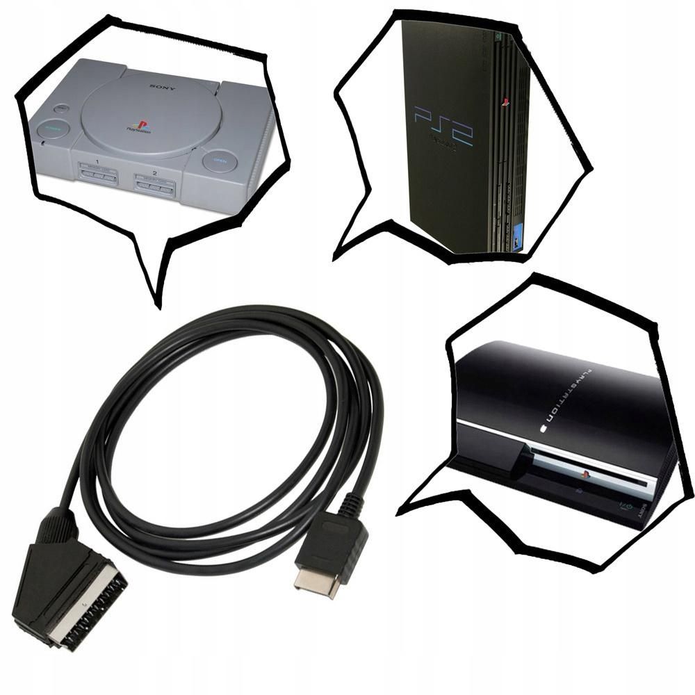 TRUE RGB SCART kábel pre PlayStation PS2! NOVÝ