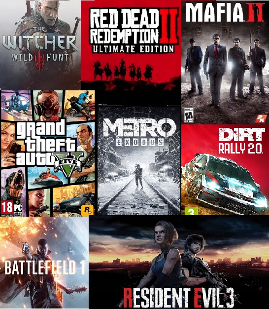 Item 200 GAMES GTA 5, MAFIA 1, BATTLEFIELD 3, METRO EXODUS