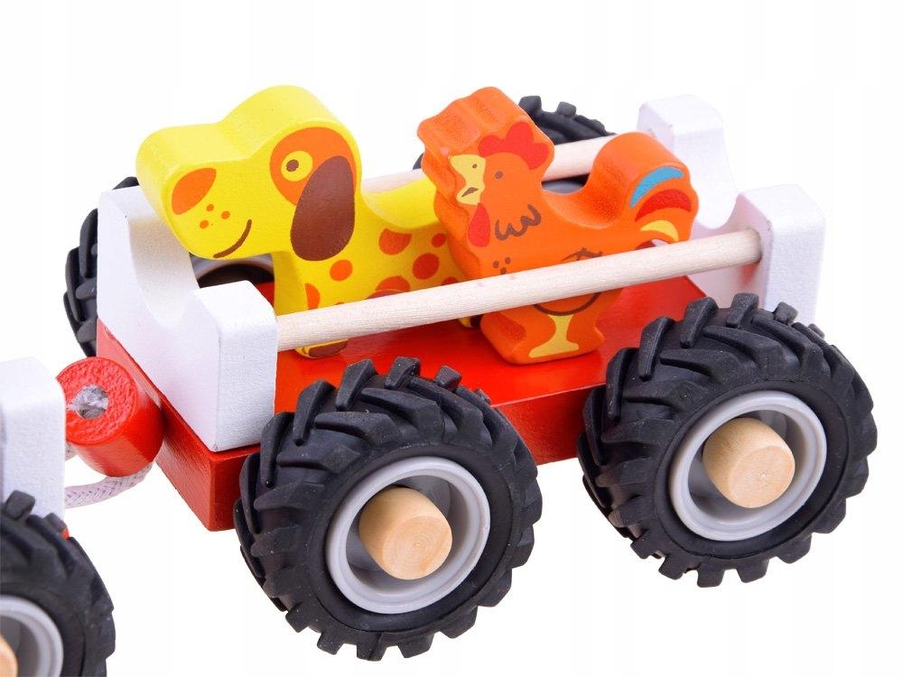 Traktor z przyczepą drewniana Kolejka farma ZA3566 Kod producenta ZA3566