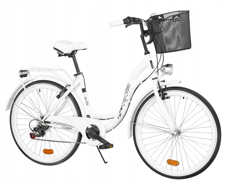 Dámsky mestský bicykel Citybike 26 palcový 7Running + košík