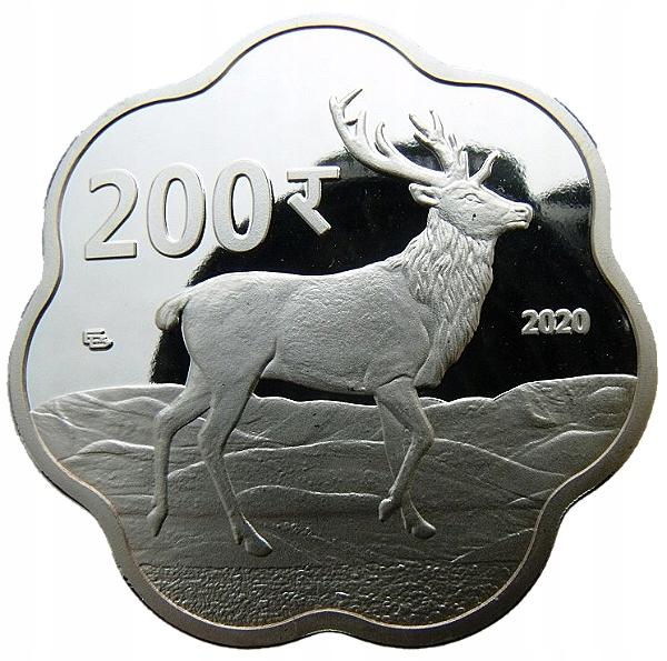 JAMMU & KASHMIR 200 RUPEES 2020 JELEŃ 40mm