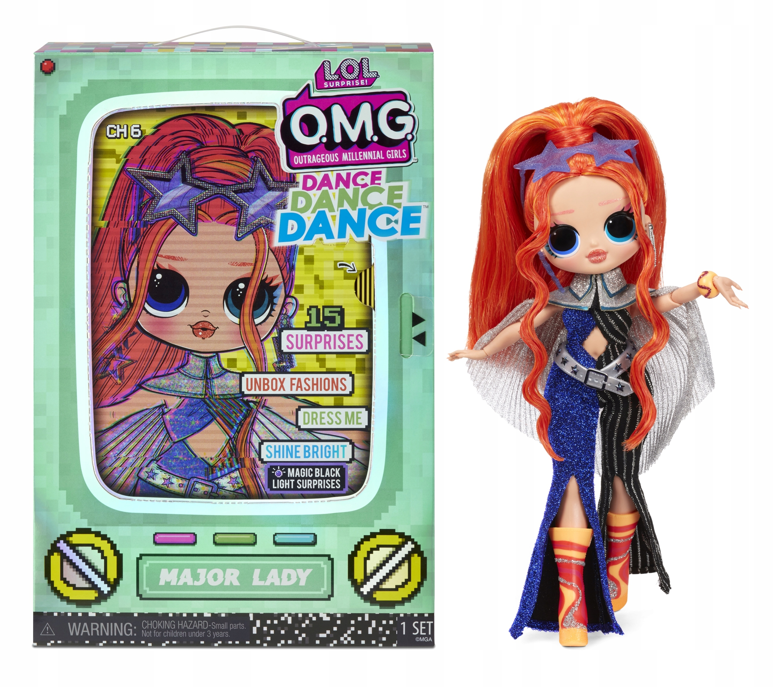 L.O.L. Surprise OMG Dance Doll- Major Lady 117889