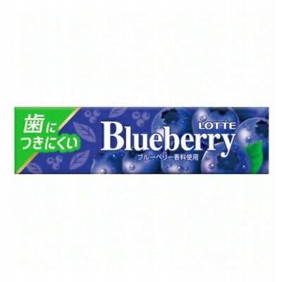 Blueberry Lotte черничная жевательная резинка 9 листьев 40,6 г