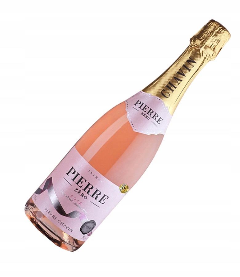 Вино безалкогольное шампанское Pink Pierre Zero 0%