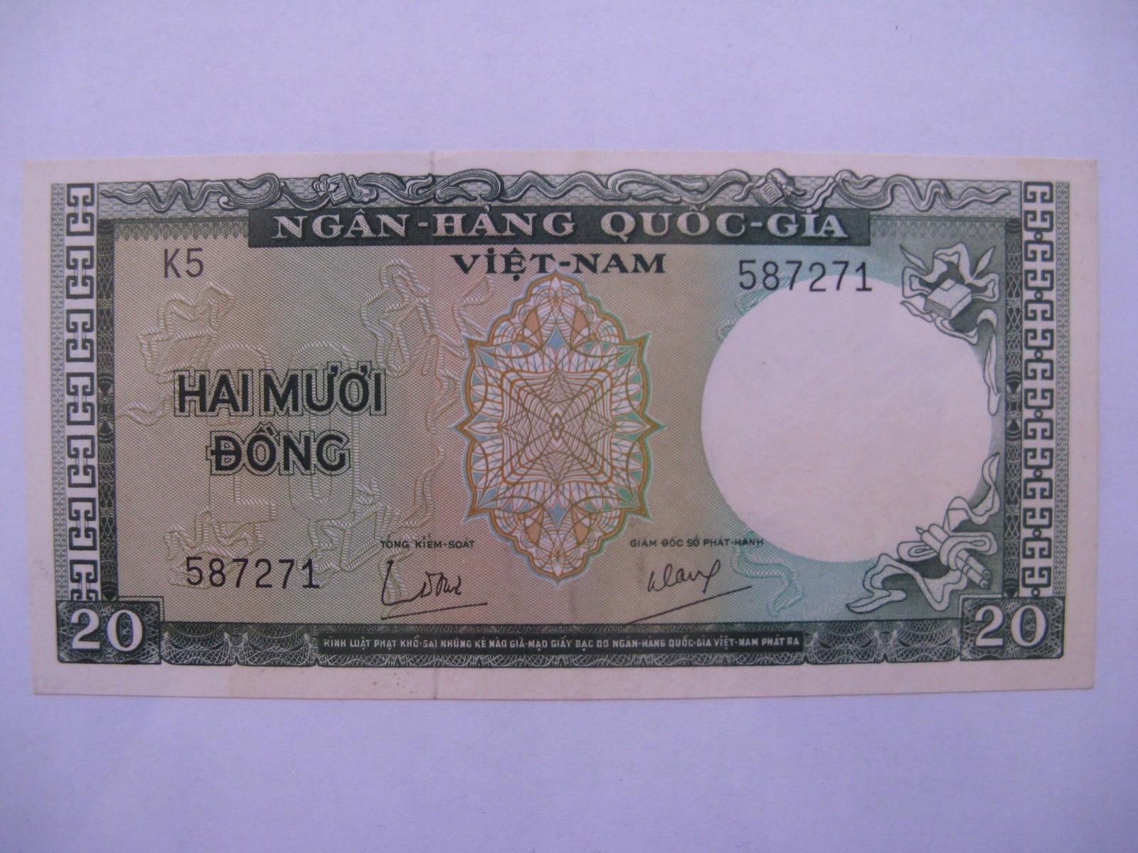 Южный Вьетнам - 20 донгов - 1964 - P16a - St. 1