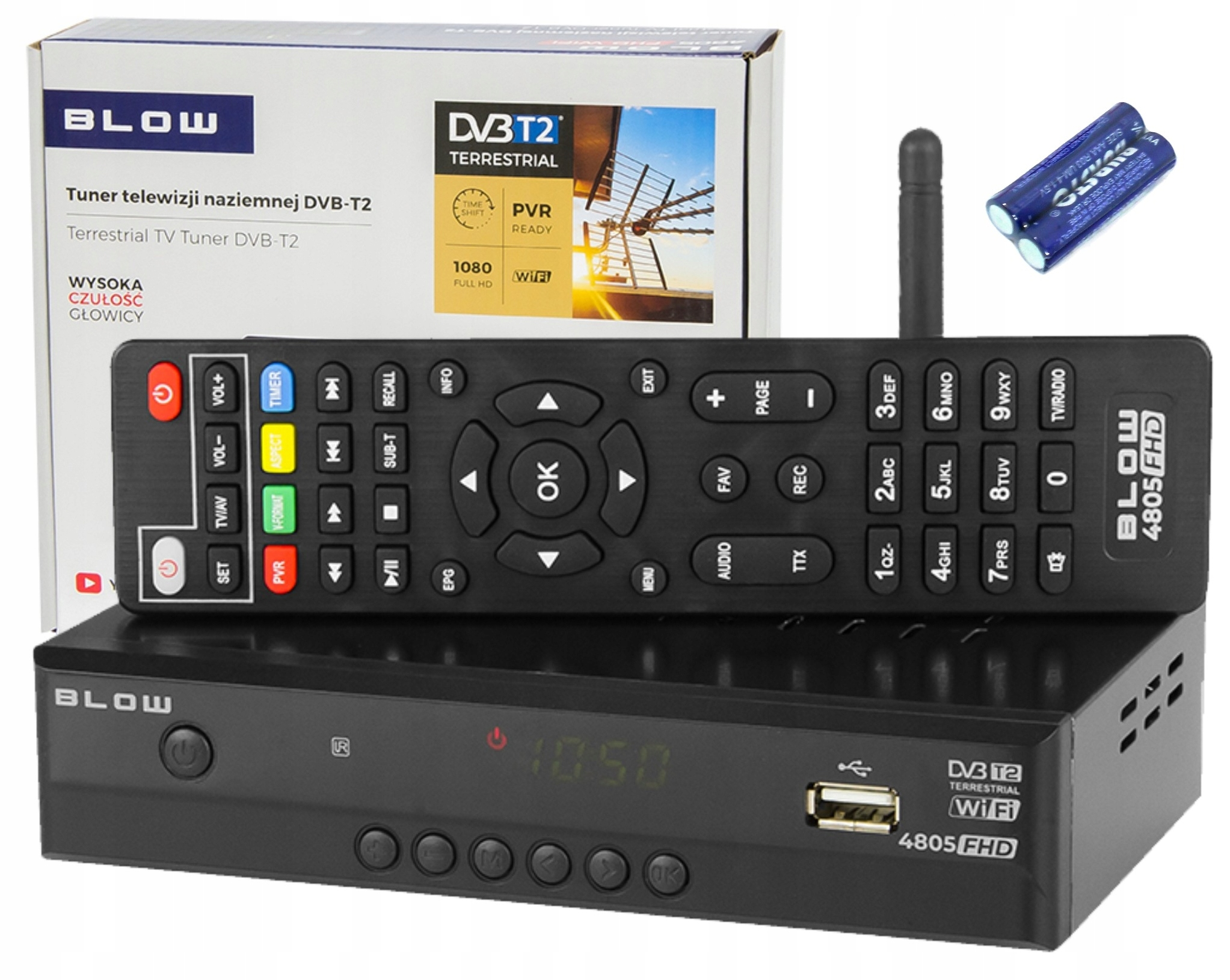 TUNER DVB-T DEKODER CYFROWY TV DVB-T2 PVR Wi-Fi 9044550572 - Sklep internetowy AGD, RTV, telefony, laptopy - Allegro.pl