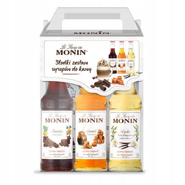Syrop do kawy Monin zestaw mix smaków 3x250ml