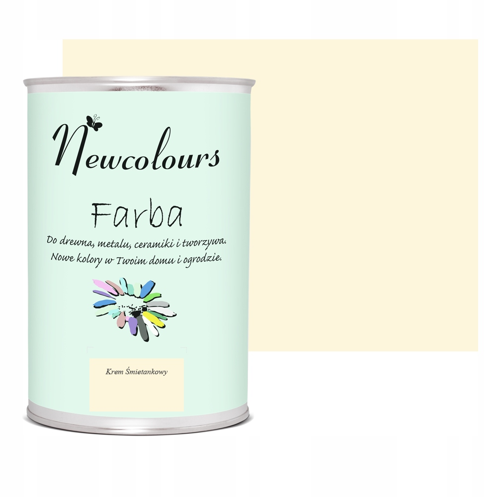 Farba do mebli Newcolours KREM ŚMIETANKOWY 900ml