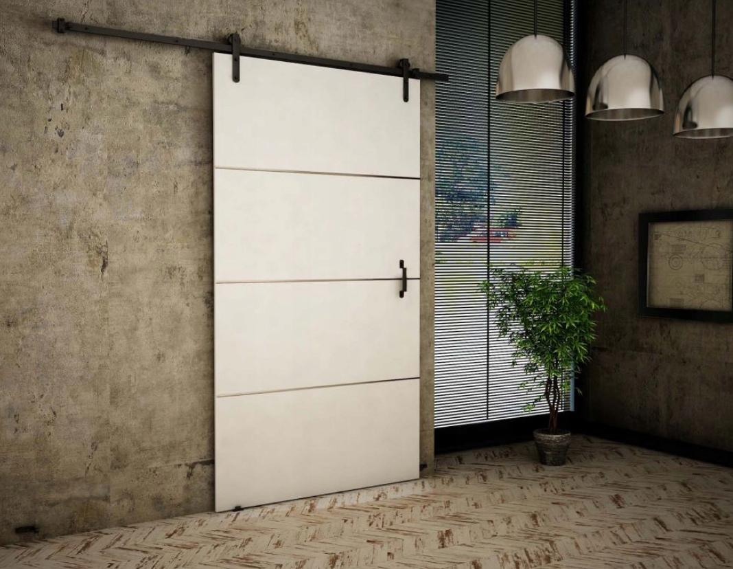 Biele nástenné posuvné dvere Retro RT100 Plus