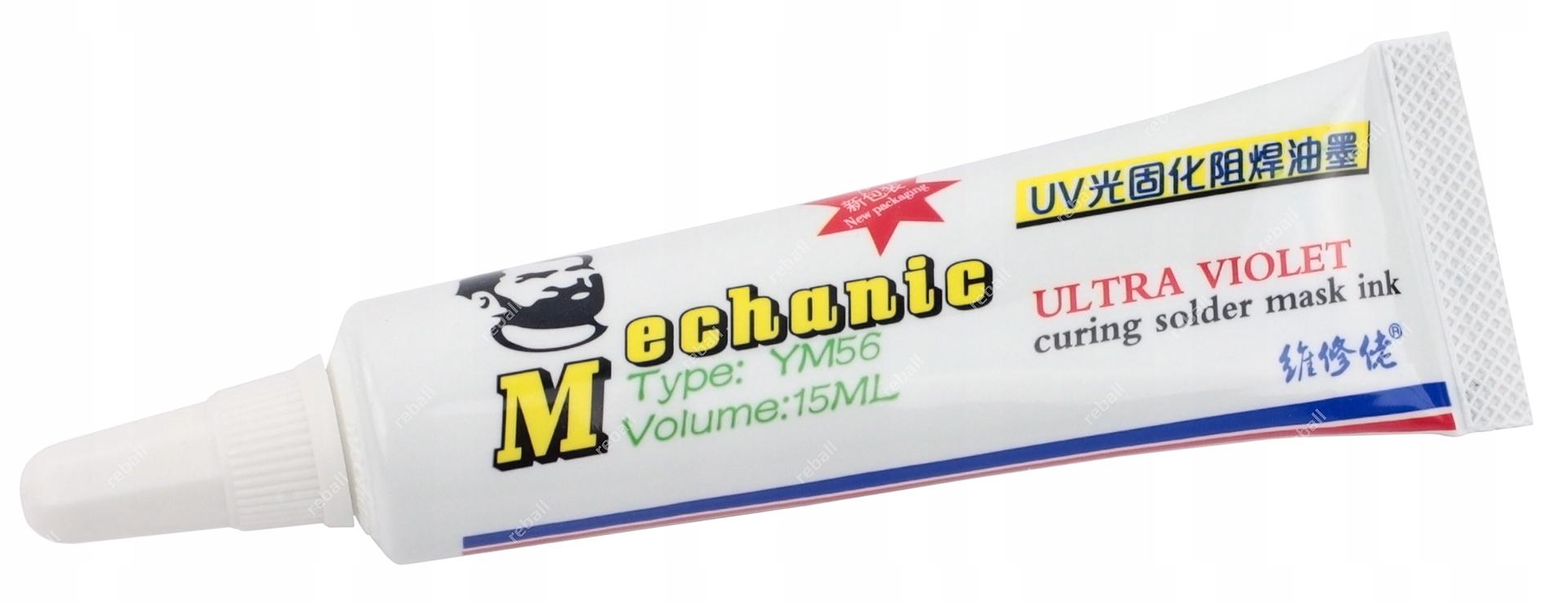 LAKIER UV DO NAPRAW ŚCIEŻEK PCB MECHANIC YM56 CZER