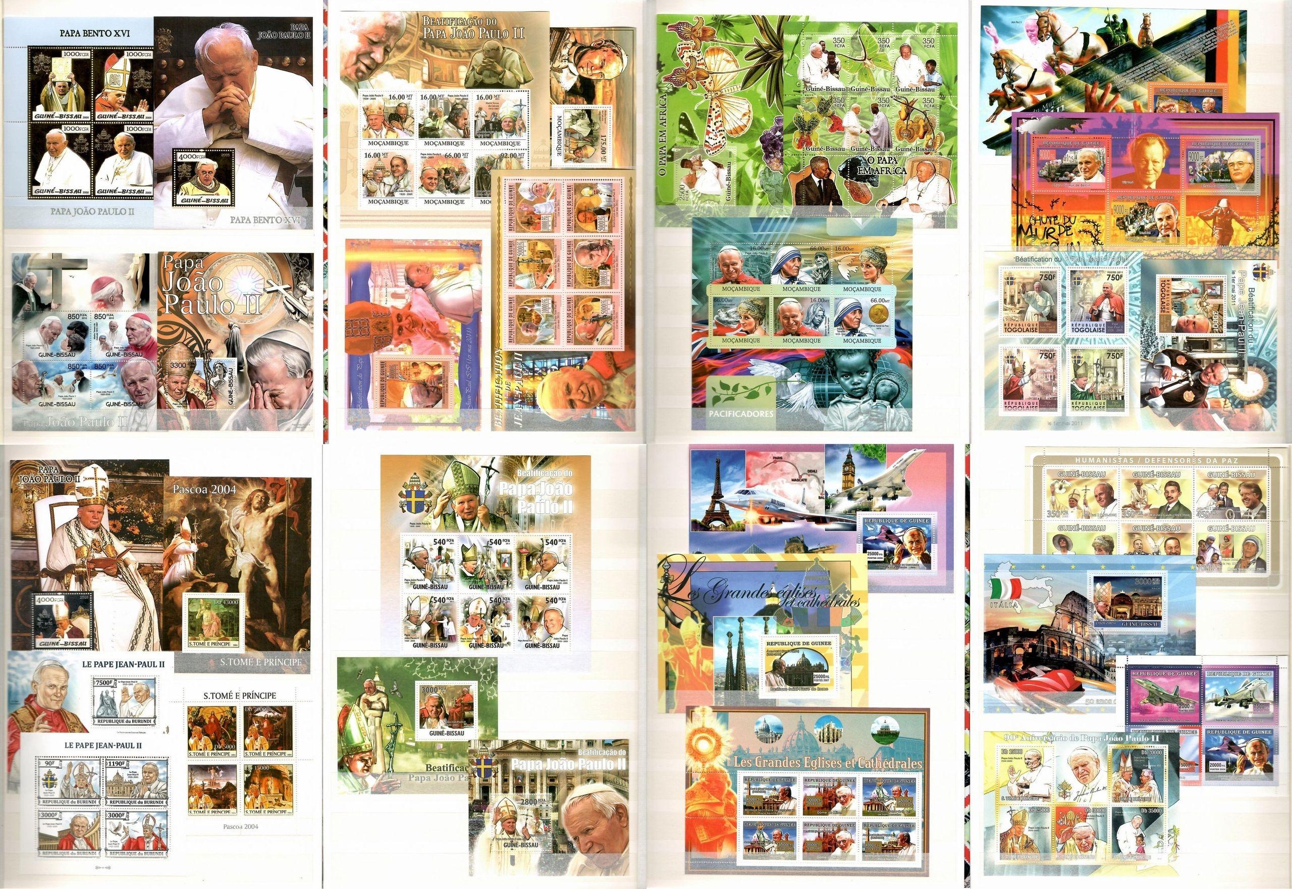 Коллекция марок Папы Иоанна Павла II + марка CL30