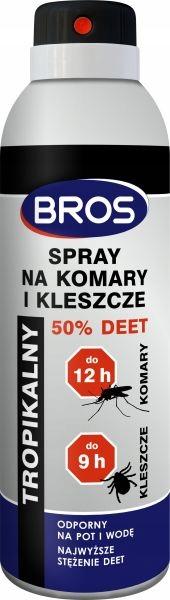 Spray na komary i kleszcze 50 % Deet 180 ml Bros