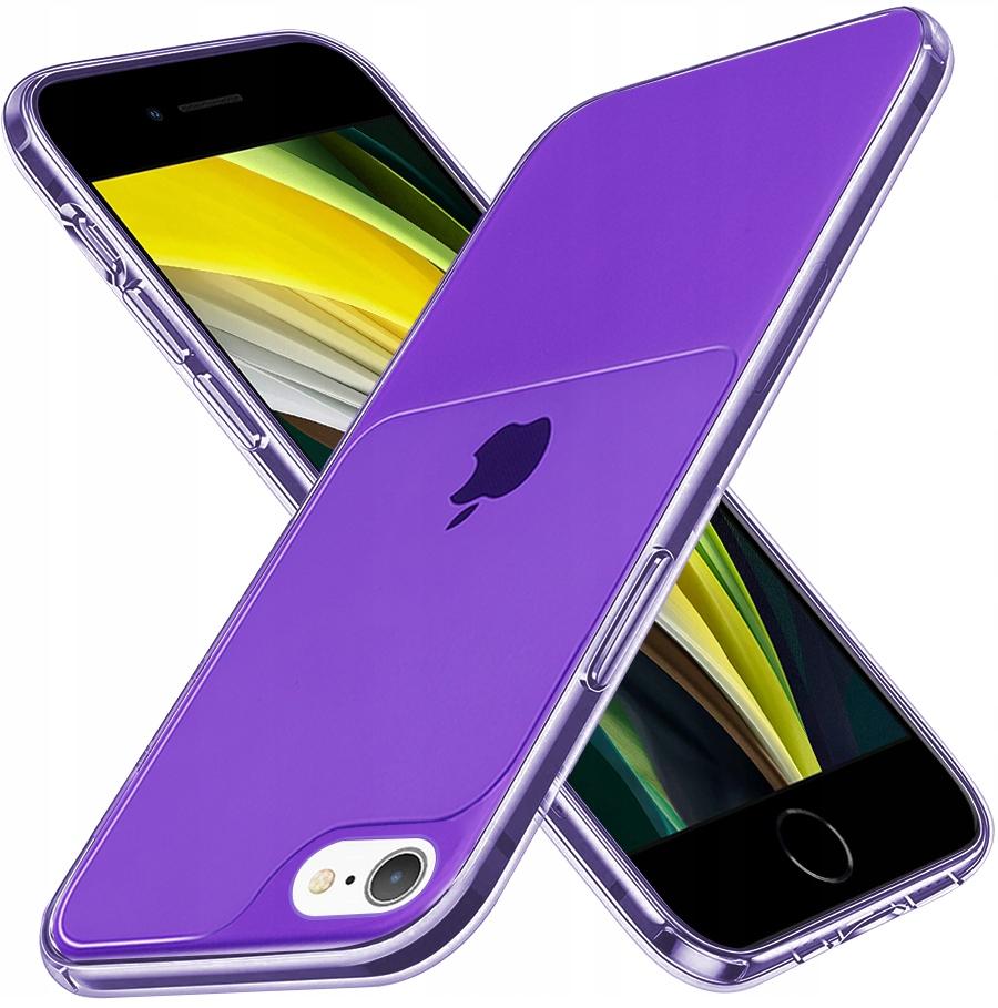 Etui do iPhone 7 8 SE 2020 Case Silikon Guma SZKŁO