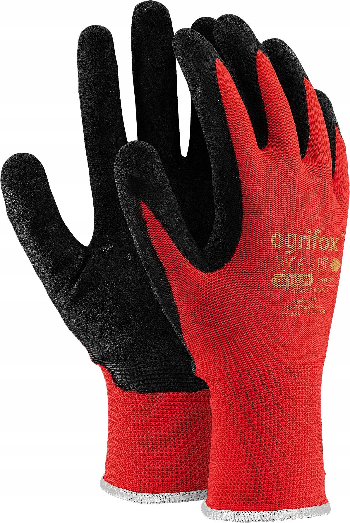 Rękawiczki RĘKAWICE robocze powlekane lateksem r10