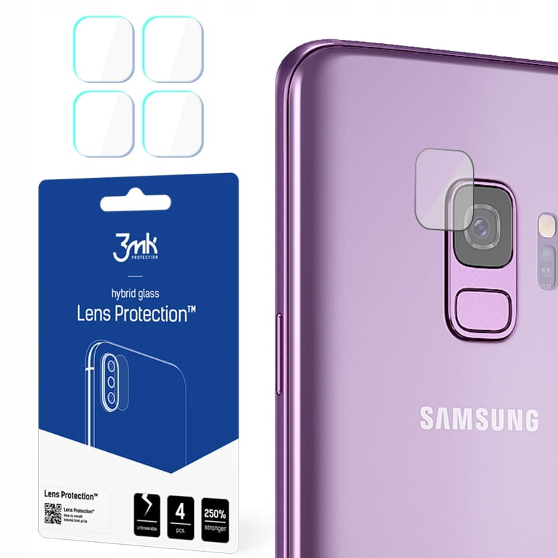 Ochrona na obiektyw aparatu 3mk Lens x4 Galaxy S9