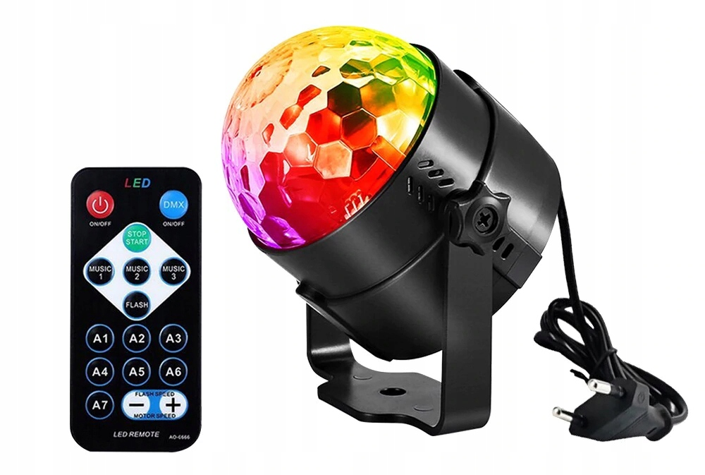 Item DISCO BALL PROJECTOR, DISCO BAR LED RGB REMOTE CONTROL