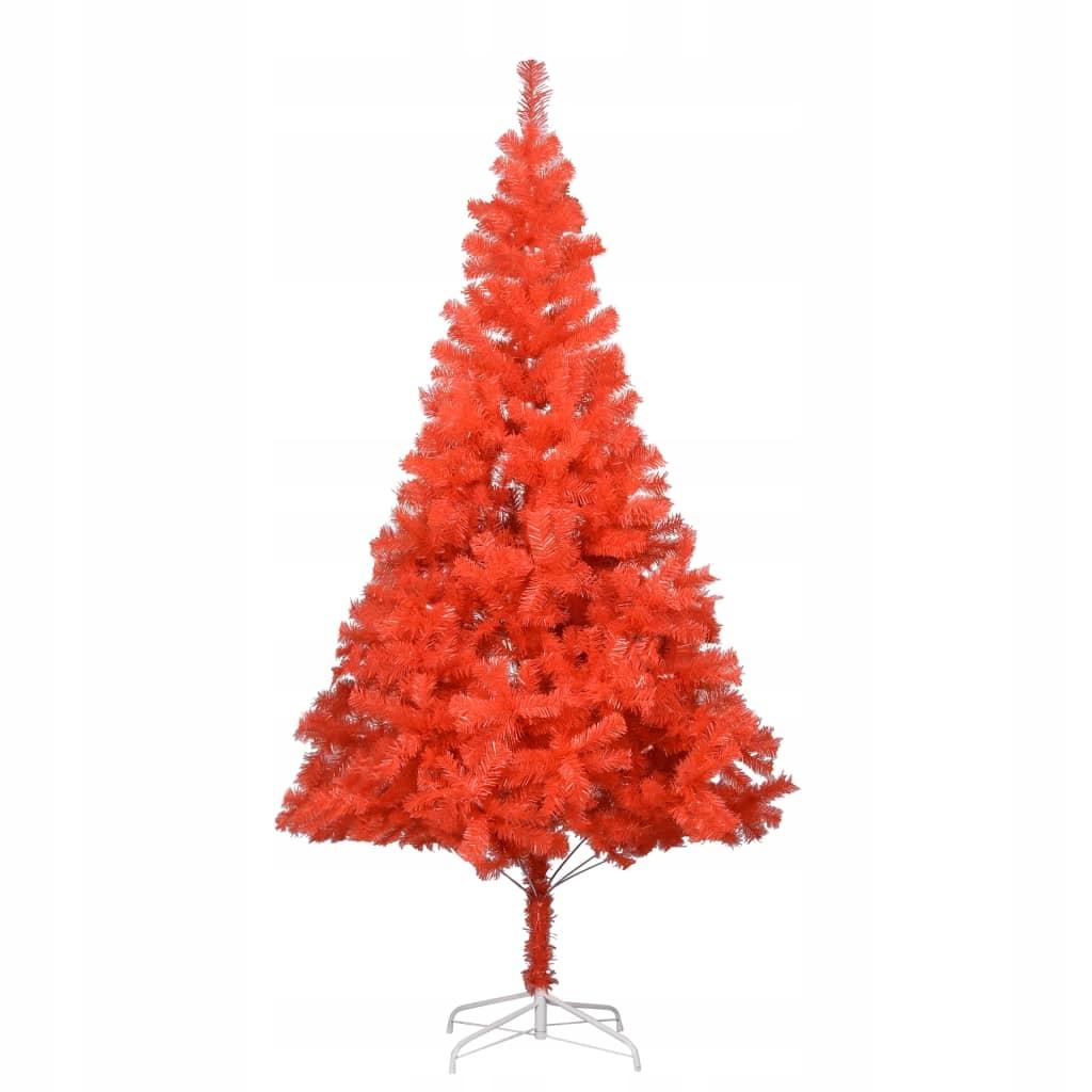 Umelý vianočný stromček so stojanom, červený, 213 cm, str