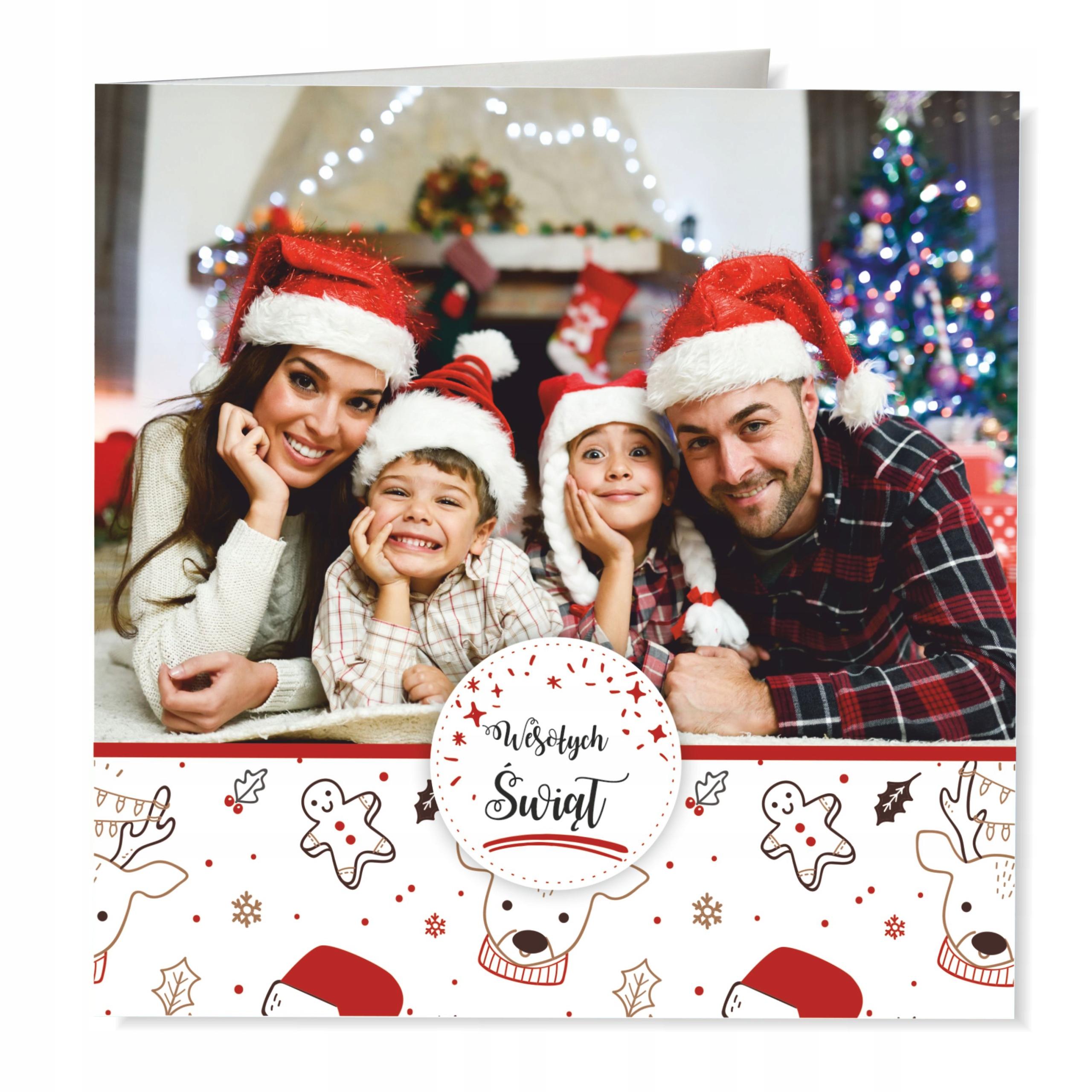 Foto-Kartka Świąteczna z Twoim zdjęciem + koperta
