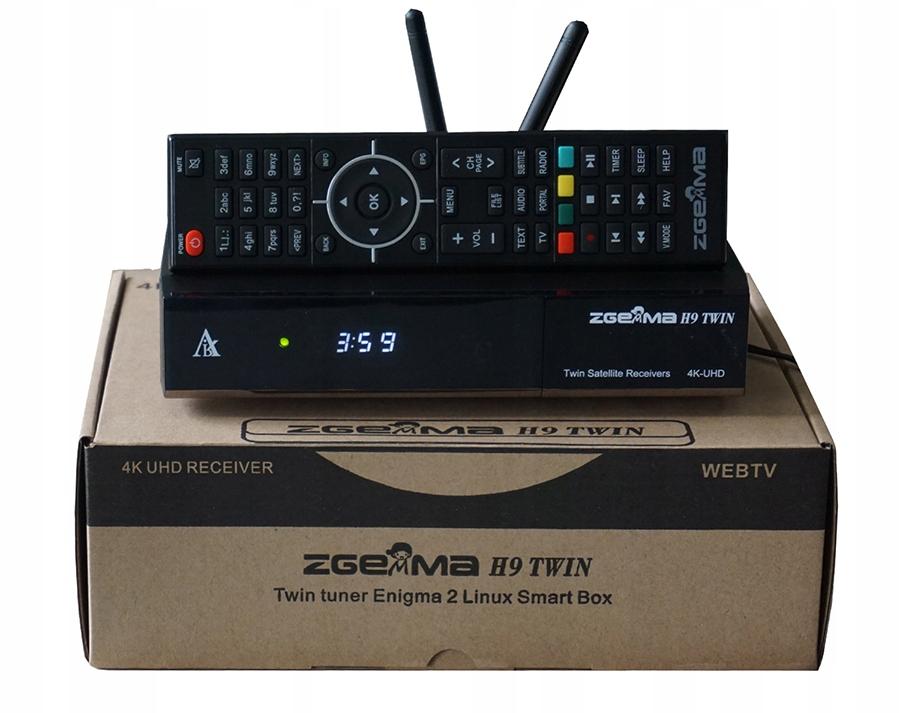 Zgemma H9 TWIN V.2 4K KODI ENIGMA2 CCcam NETFLIX
