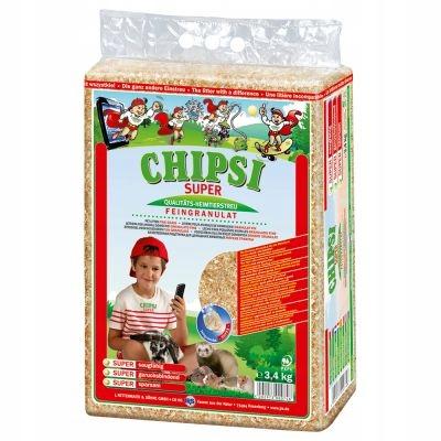 Помет Chipsi Super для хорьков 15 кг субстрата