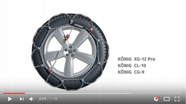 THULE SNOW CHAINS XG-12 PRO GROUP 255 SIZE 255//45 R20