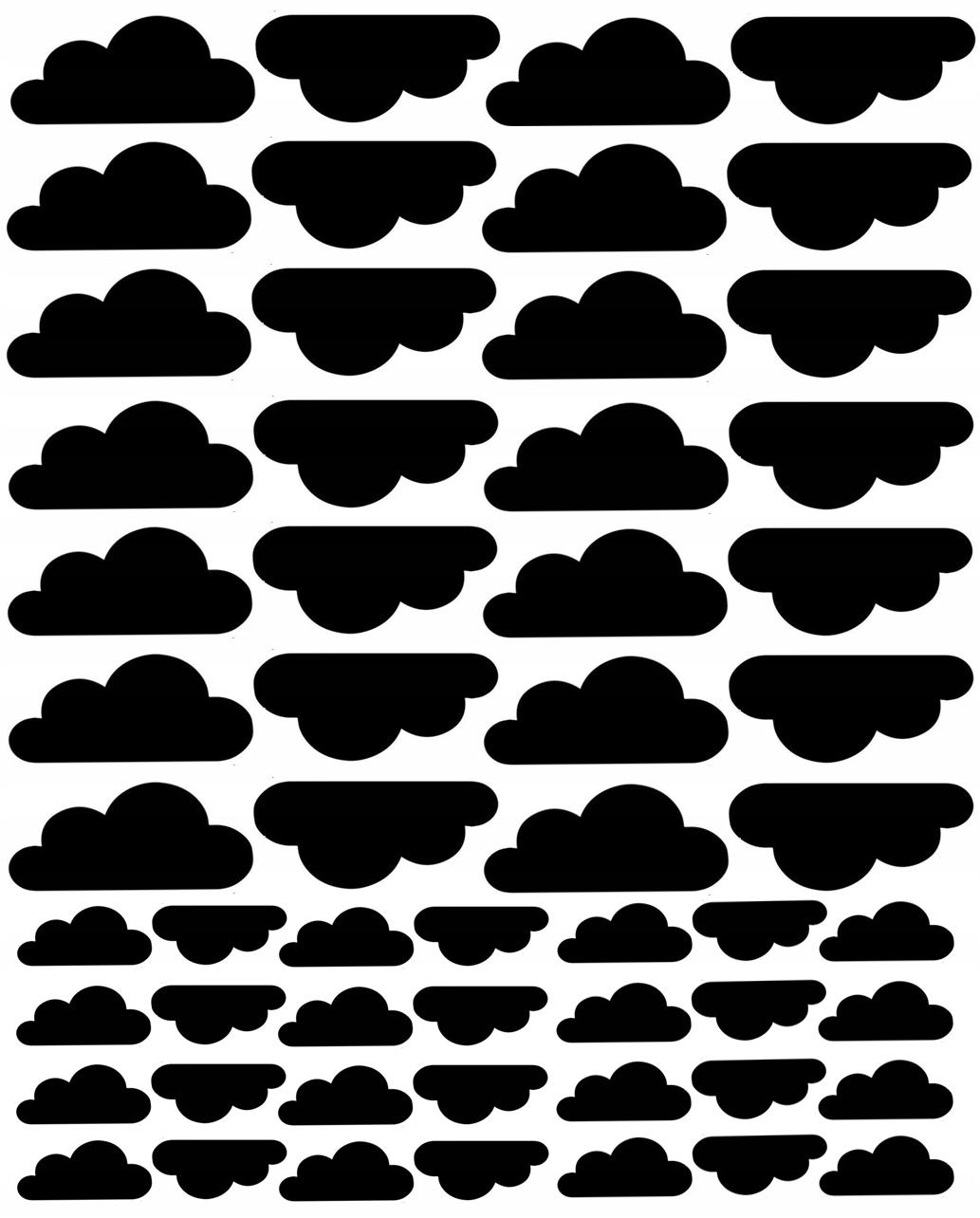 Настенные наклейки облака мебель 56 шт.