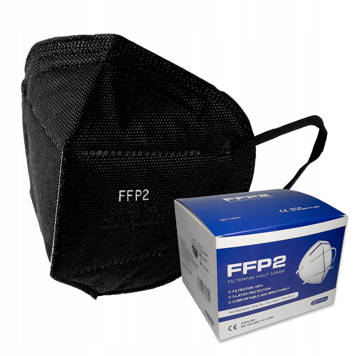 10x Polish Mask FFP2 Черная маска KN95 95% C