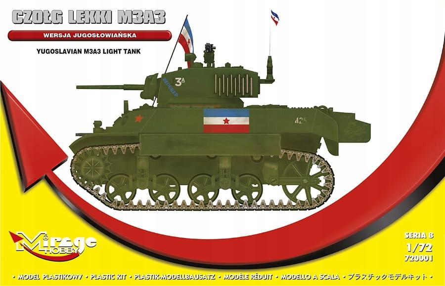 MIRAGE 720001 1:72 Czołg lekki M3A3 Jugosłowiański