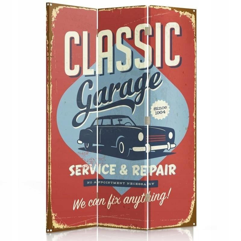 Obrazovky v šatni garáž retro sú 110x180