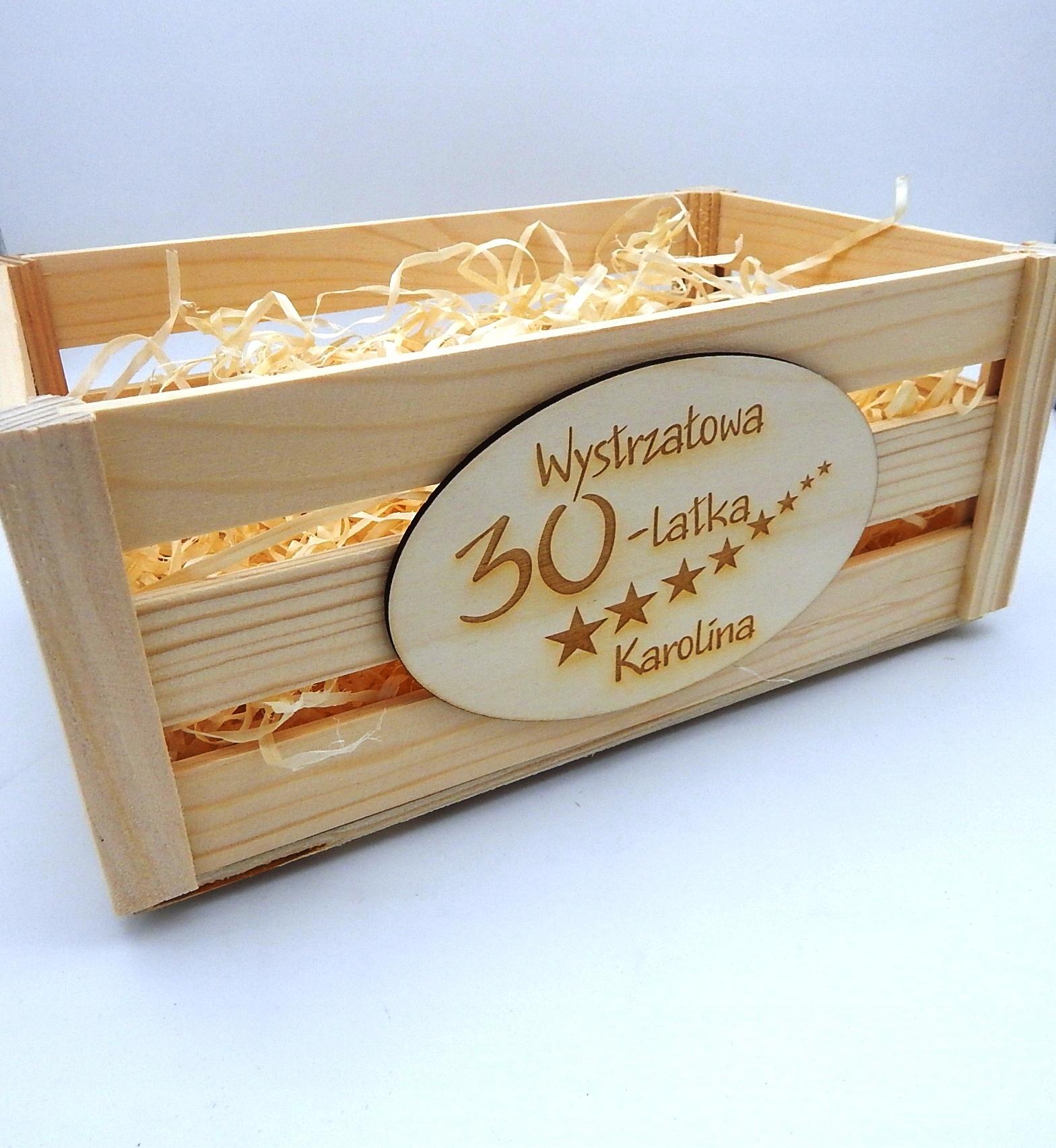 KOSZ DREWNIANY ŚLUB URODZINY IMIENINY PREZENT GRAW Kod produktu Dzień kobiet babci dziadka, rocznica, Ślub, wesele