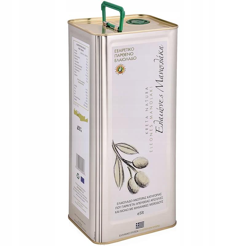 GRÉCKY OLIVOVÝ olej EXTRA PANENSKÝ 5L KretaNatura