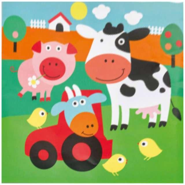 Serwetki FARMA zwierzątka świnka krówka 16 szt