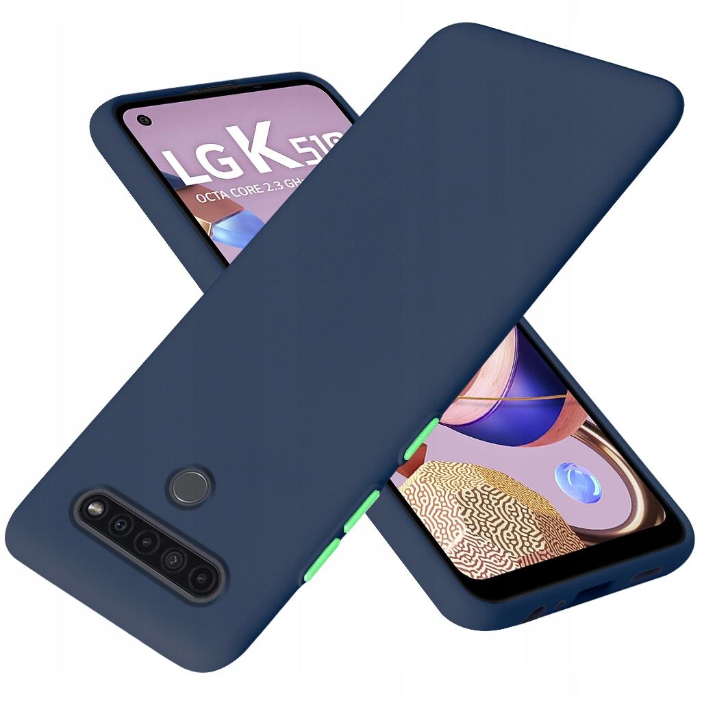 Etui do LG K51S Case Silikon + Szkło 9H