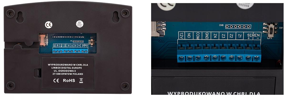 PRZEWODOWY ALARM LCD GSM APP SYRENY POLSKI 2 PIR EAN 5903715550998