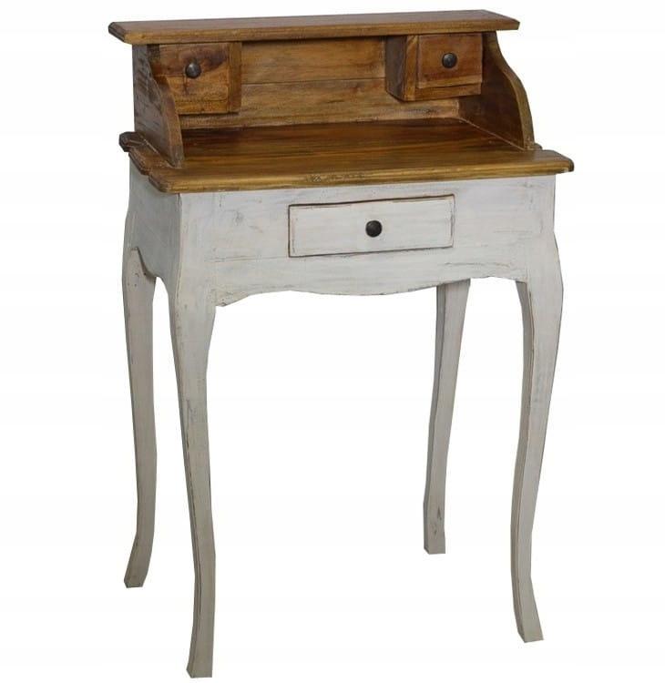 Biely stôl drevený sekretársky retro štýl