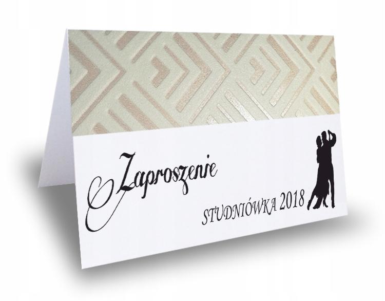 Zaproszenie Zaproszenia Na Studniowke 100 Koronka 8878686843 Allegro Pl