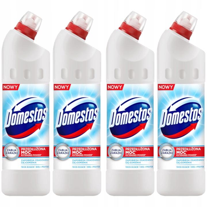 Чистящее средство для унитазов Domestos, белое 1,25 л x4