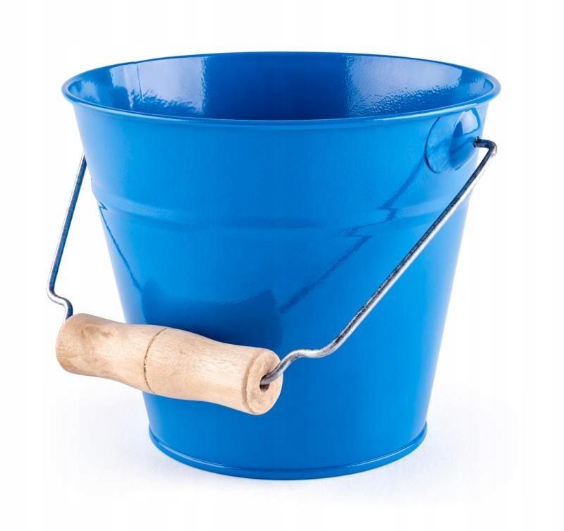 Вудиное ведро синий металл маленький садовник