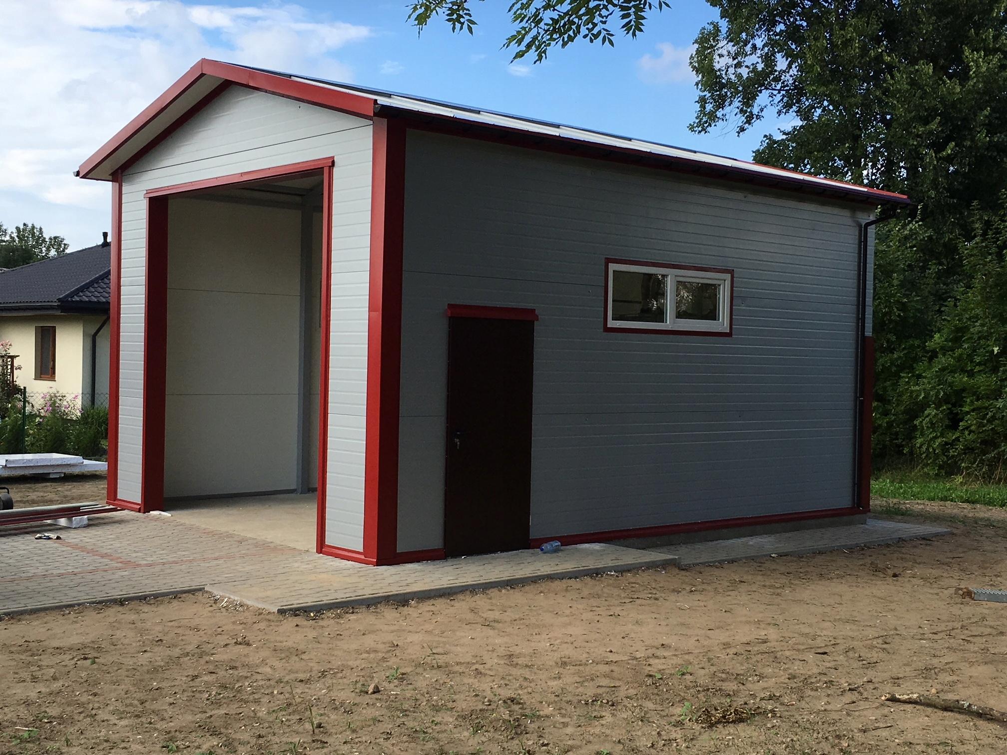 garaź ocieplony 35m2 płyta warstwowa garaże